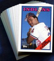 1988 Topps Cleveland Indians Baseball Card Team Set