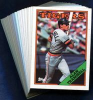 1988 Topps Detroit Tigers Baseball Card Team Set