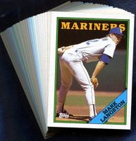 1988 Topps Seattle Mariners Baseball Card Team Set