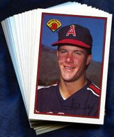 1989 Bowman (Anaheim) California Angels Baseball Cards Team Set