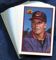 1989 Bowman Cleveland Indians Baseball Cards Team Set
