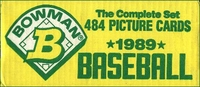 1989 Bowman Factory Baseball Cards Set