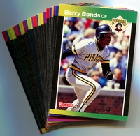 1989 Donruss Pittsburgh Pirates Baseball Cards Team Set