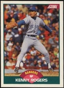 1989 Score Rookie & Traded Kenny Rogers Rookie Baseball Card