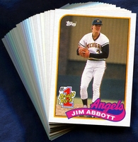 1989 Topps Anaheim (California) Angels Baseball Cards Team Set