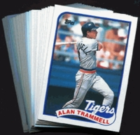 1989 Topps Detroit Tigers Baseball Card Team Set