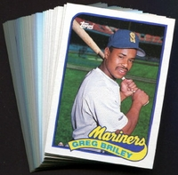1989 Topps Seattle Mariners Baseball Card Team Set