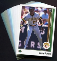 1989 Upper Deck Pittsburgh Pirates Baseball Cards Team Set