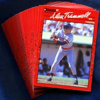 1990 Donruss Detroit Tigers Baseball Cards Team Set