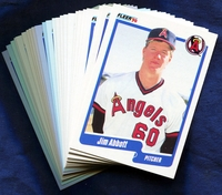 1990 Fleer California Angels Baseball Cards Team Set
