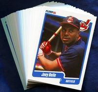 1990 Fleer Cleveland Indians Baseball Cards Team Set
