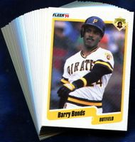 1990 Fleer Pittsburgh Pirates Baseball Cards Team Set