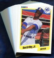 1990 Fleer Seattle Mariners Baseball Cards Team Set