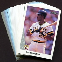 1990 Leaf Pittsburgh Pirates Baseball Cards Team Set