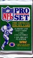 1990 Pro Set Series 1 NFL Football Cards Pack