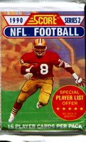 1990 Score Series 2 NFL Football Cards Pack