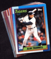 1990 Topps Detroit Tigers Baseball Card Team Set