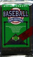 1990 Upper Deck Baseball Cards Low Series Pack