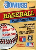1991 Donruss Series 1 Baseball Cards Pack