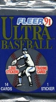 1991 Fleer Ultra Baseball Cards Pack