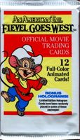 1991 Impel An American Tale Fievel Goes West Non-Sports Card Pack