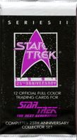 1991 Impel Star Trek 25th Anniversary Next Generation Series 2 Non-Sports Cards Pack