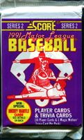 1991 Score Series 2 Baseball Cards Pack