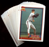 1991 Topps Anaheim California Angels Baseball Cards Team Set