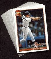 1991 Topps Detroit Tigers Baseball Card Team Set