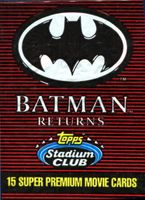 1991 Topps Stadium Club Batman Returns Non-Sports Card Pack