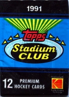 1991 Topps Stadium Club Hockey Cards Pack