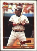 1991 Topps Tony Gwynn Baseball Card
