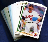 1991 Upper Deck California Angels Baseball Cards Team Set
