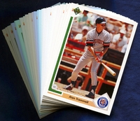 1991 Upper Deck Detroit Tigers Baseball Cards Team Set