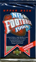 1991 Upper Deck NFL Football Cards Pack