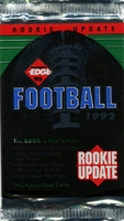 1992 Collectors Edge Rookie Update NFL Football Card Pack