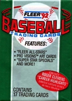 1992 Fleer Baseball Cards Pack