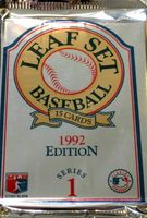 1992 Leaf Series 1 Baseball Cards Pack