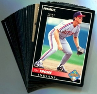 1992 Pinnacle Cleveland Indians Baseball Card Team Set