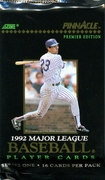 1992 Pinncale Series 1 Baseball Cards Pack