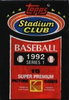 1992 Stadium Club Series 1 Baseball Cards Pack