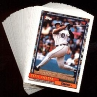 1992 Topps Detroit Tigers Baseball Card Team Set