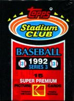 1992 Topps Stadium Club Series 3 Baseball Cards Pack