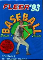 1993 Fleer Series 1 Baseball Cards Pack