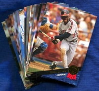 1993 Leaf Cleveland Indians Baseball Card Team Set