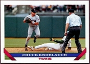1993 Topps Pre-Production Chuck Knoblauch Baseball Card