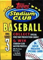 1993 Topps Stadium Club Series 3 Baseball Cards Pack