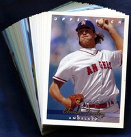 1993 Upper Deck California Angels Baseball Cards Team Set