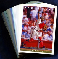 1993 Upper Deck Cleveland Indians Baseball Cards Team Set