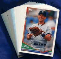 1994 Topps Detroit Tigers Baseball Card Team Set